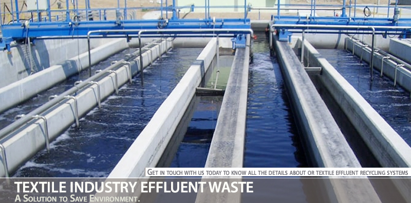Textile industry effluent waste – A Solution to Save Environment