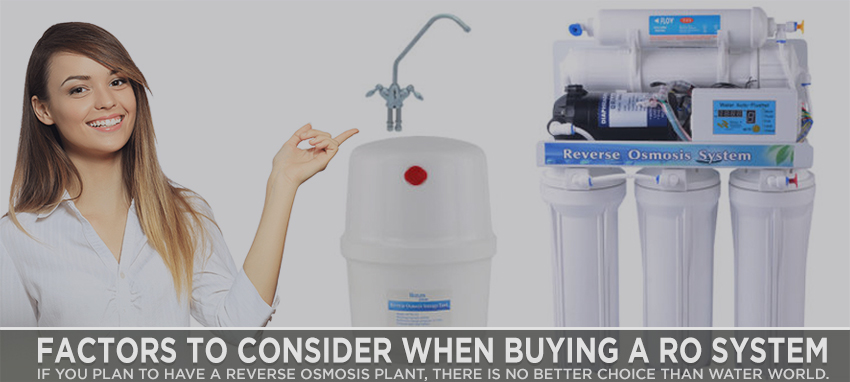 Factors to Consider When Buying a RO System