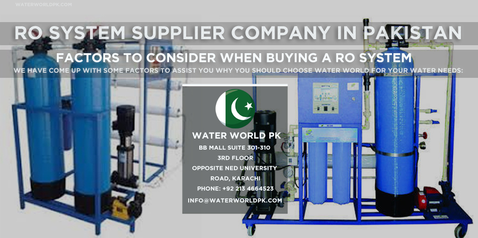 RO System Supplier Company in Pakistan